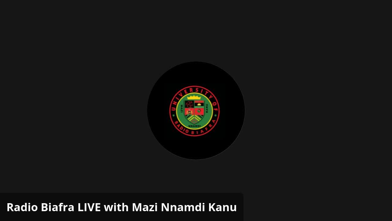 Mazi Nnamdi Kanu - Radio Biafra LIVE with Mazi Nnamdi Kanu 1 May 2021