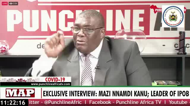 HAPPENING NOW! EXCLUSIVE INTERVIEW WITH MAZI NNAMDI KANU BY Dr. David Matsang...