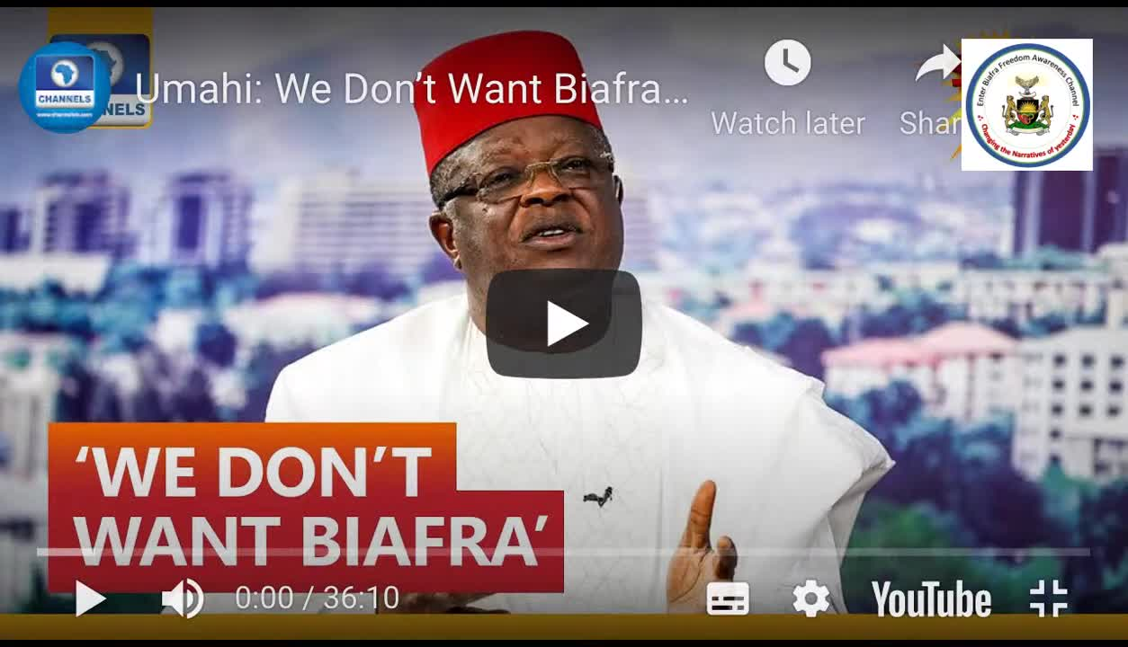 Addressing governor Umahi's confession on Channel TV and message to Igbo leaders, Yoruba leaders …